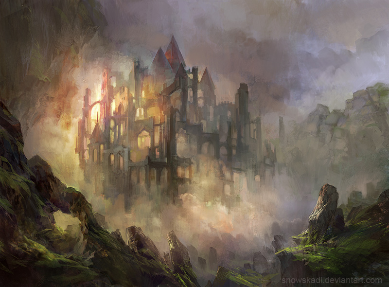 fantasy art wizard castle - photo #23