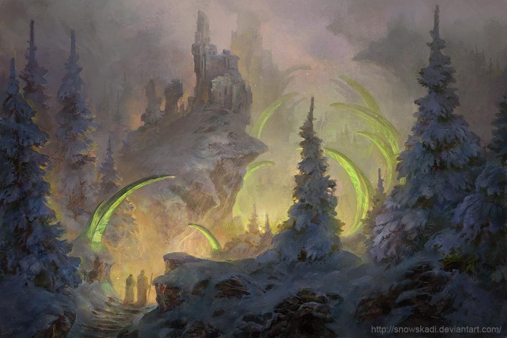 Winter path by SnowSkadi