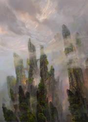 Dragon Cliffs by SnowSkadi