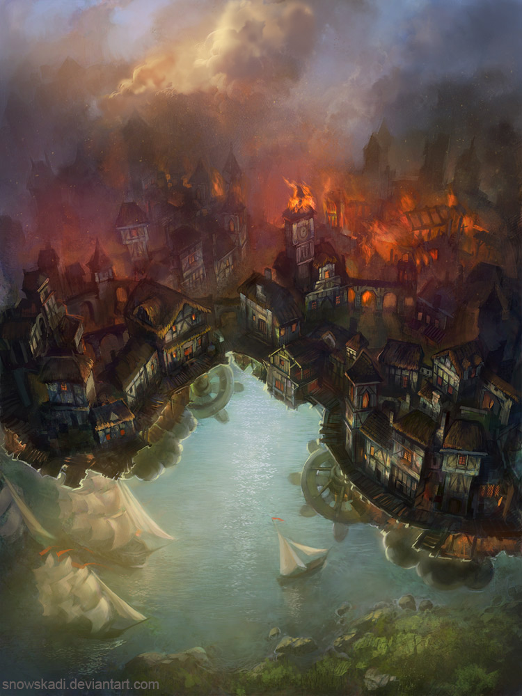 Floating Town by SnowSkadi