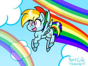 Pony Life Rainbow Dash Redesign.