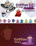 Coffee Time 31 Cups Vector Set