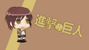 [Shingeki no Potato] Sasha Blouse Chibi Wallpaper by Zing-007