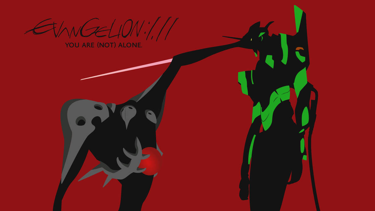 Evangelion 1 11 You Are Not Alone Wallpaper By Zing 007 On Deviantart