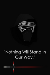 Star Wars: The Force Awakens - Kylo Ren Minimalist by Zing-007
