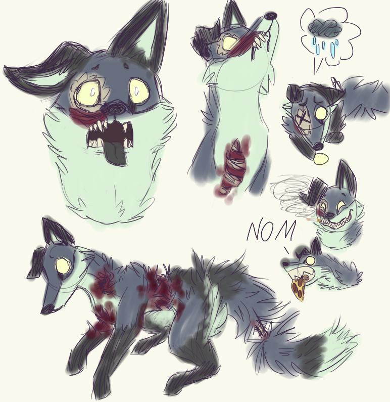 Vent Fox Doodles by LtCatnip