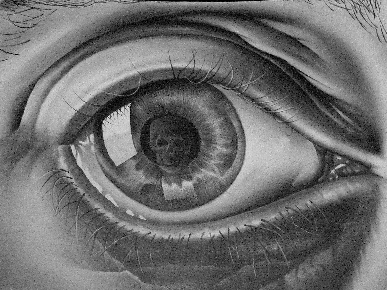 Visions of a madman in ruins springburn part 1 - Eye drawing wallpaper ...