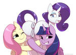 Hugs with Rarity by Tentacless
