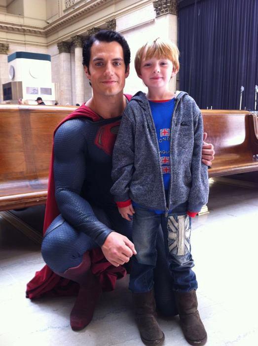Henry Cavill Superman Pose by MarkMajor