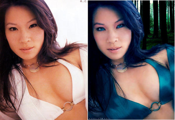 Lucy Liu yellow power ranger
