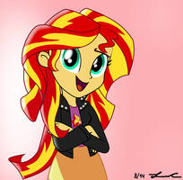 Sunset Shimmer from MLP: Equestria Girls by LISAN1997