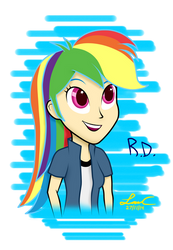 Rainbow Dash Estilo Original / Original Style by LISAN1997