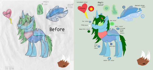 Before And After Of Crystal The Changeling by victoriame