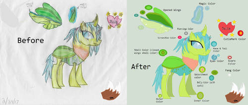 Before And After Of Julia The Changeling by victoriame