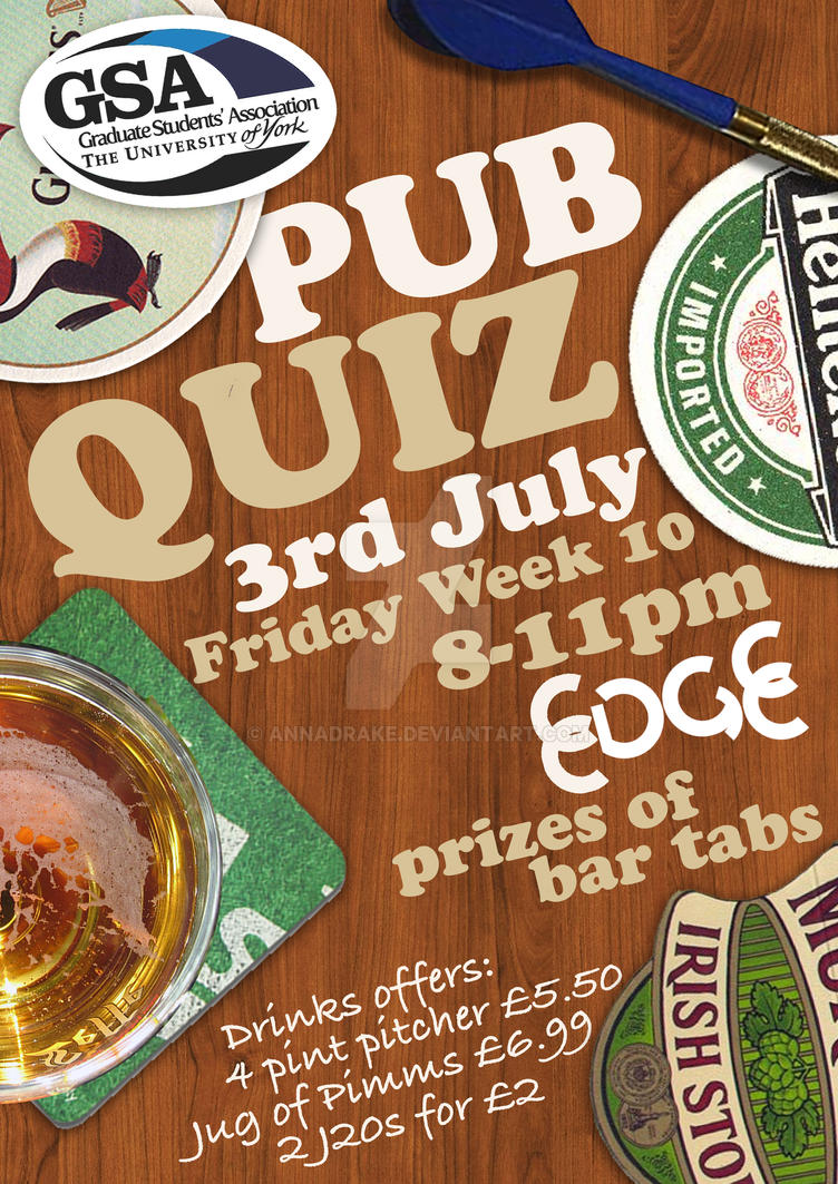 pub quiz poster by annadrake on DeviantArt