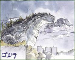 Godzilla-takes-a-walk by NORIMATSUKeiichi