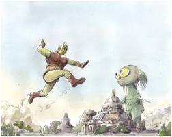 Fight-at-Pagan by NORIMATSUKeiichi