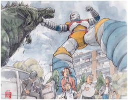 Jet Jaguar defeats it by NORIMATSUKeiichi