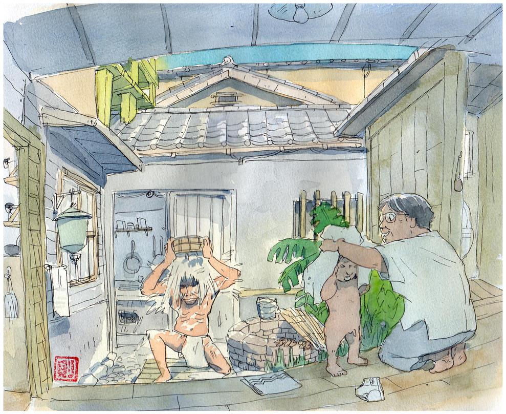 Bathe-me-at-Granpa's-home by NORIMATSUKeiichi