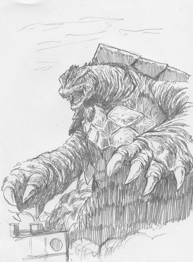 Gamera-pencil by NORIMATSUKeiichi