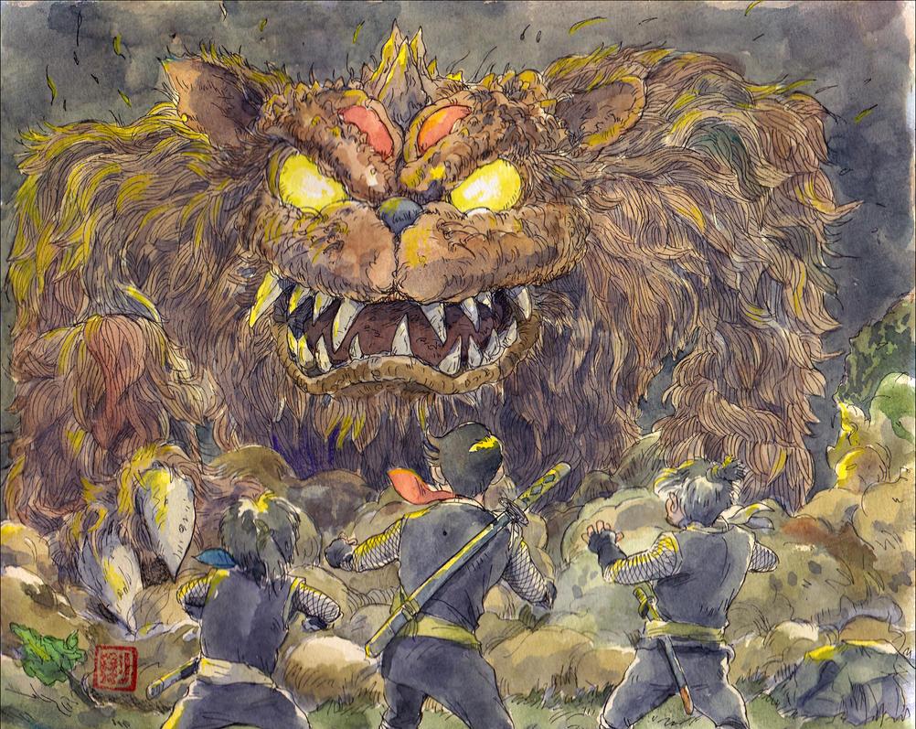Red-shadow Monstercat by NORIMATSUKeiichi
