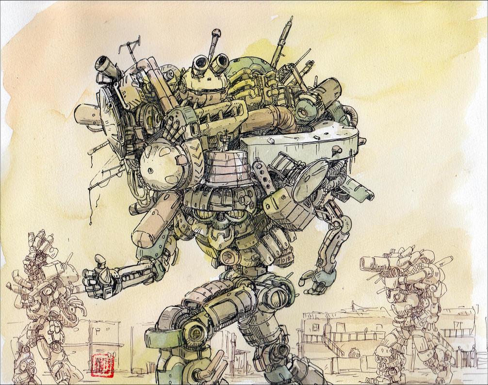 Junk-robots-walking by NORIMATSUKeiichi
