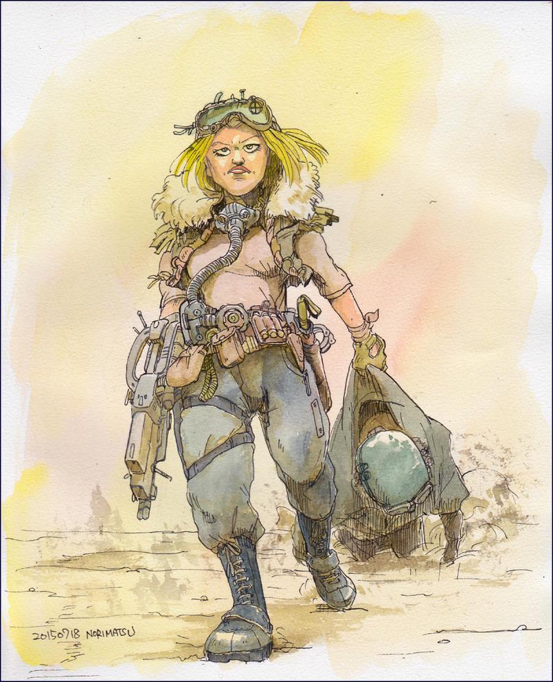 Lady-soldier by NORIMATSUKeiichi