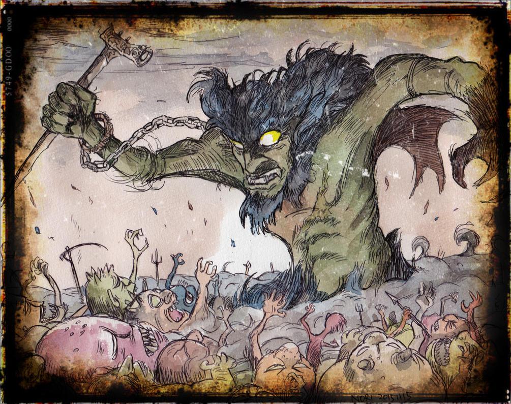 Devilman in the deep (processing) by NORIMATSUKeiichi