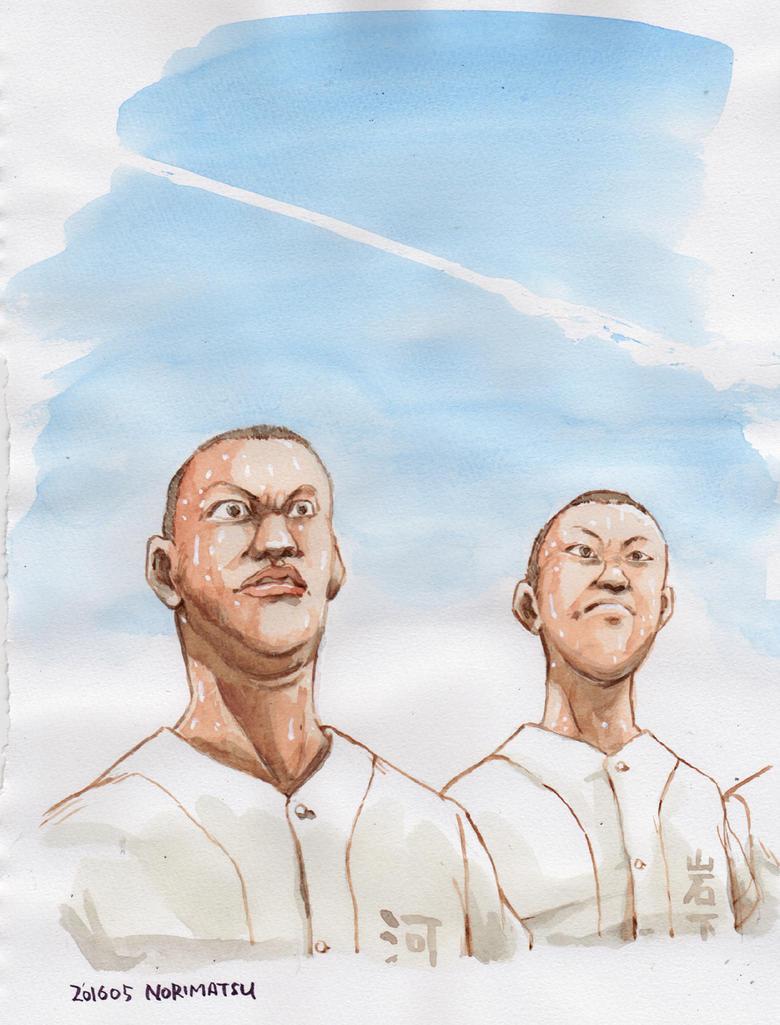 High-school-baseball-in-summer by NORIMATSUKeiichi
