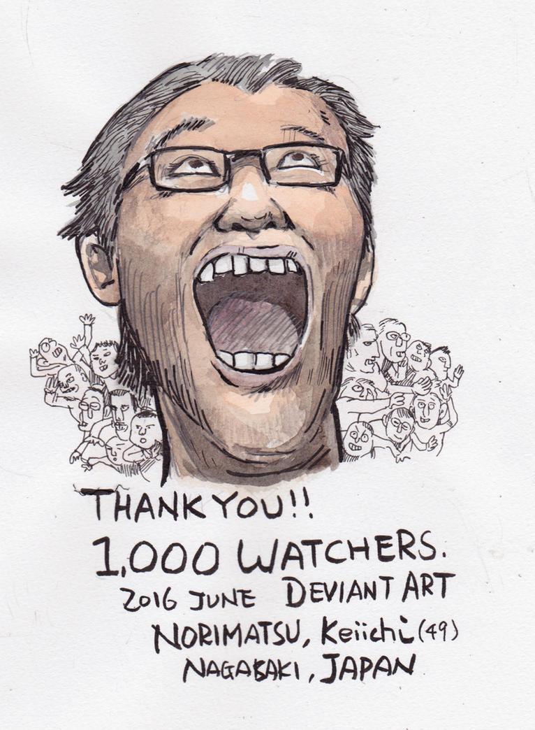 Thanks-1k-watchers by NORIMATSUKeiichi