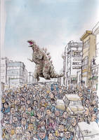 Shin-Godzilla-in-the-town by NORIMATSUKeiichi