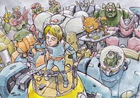 Charge-of-robots by NORIMATSUKeiichi