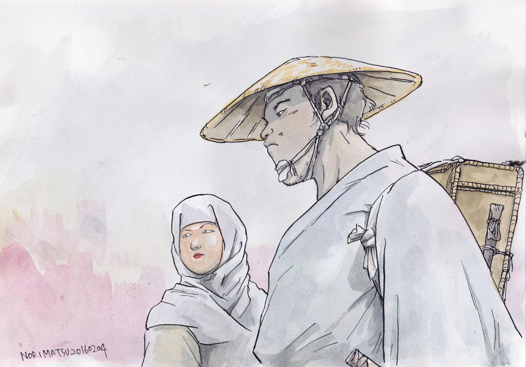 Japanese-couple-in-old-time by NORIMATSUKeiichi