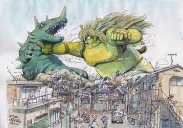 Kaiju-fight by NORIMATSUKeiichi