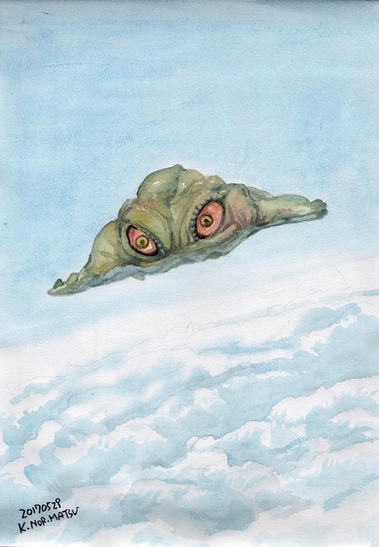 Hedorah-flies by NORIMATSUKeiichi