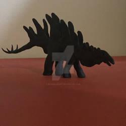 Stegosaurus Clay Sculpture 1