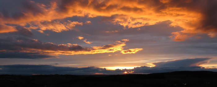 Shrouded sunset panoramic 2