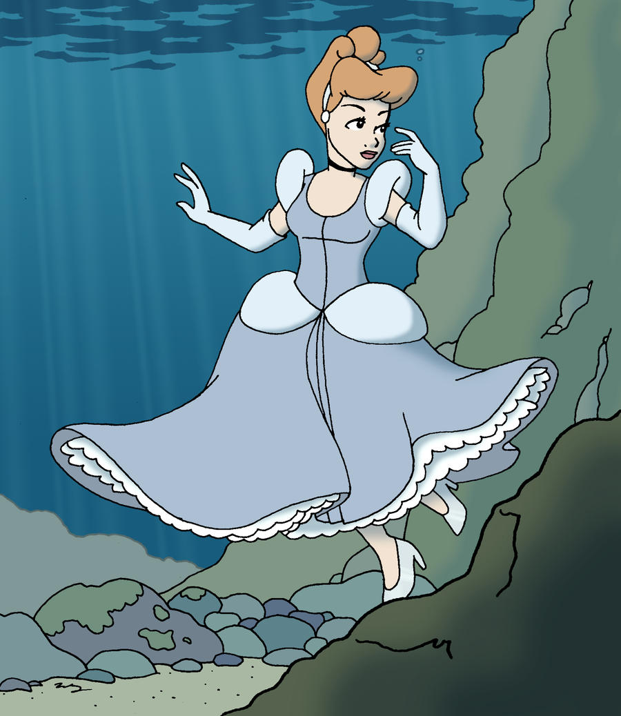 Cinderella dress drawing