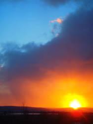 Blue Sky of Sunset