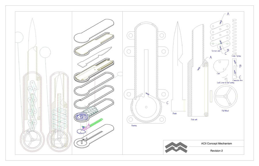 Hidden blade blueprints by vivin14170 on deviantart for How to print blueprints