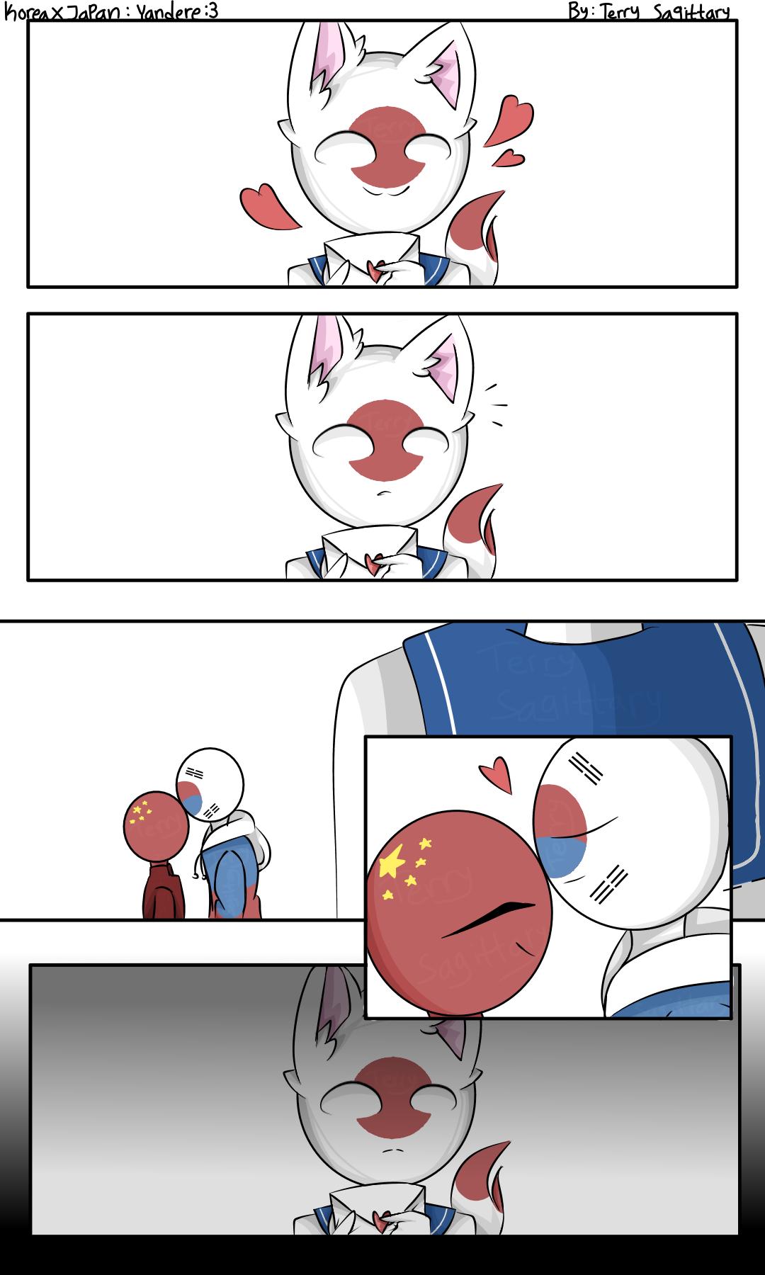 Korea and Japan:Yandere(Part1) by TerrySagittary on DeviantArt