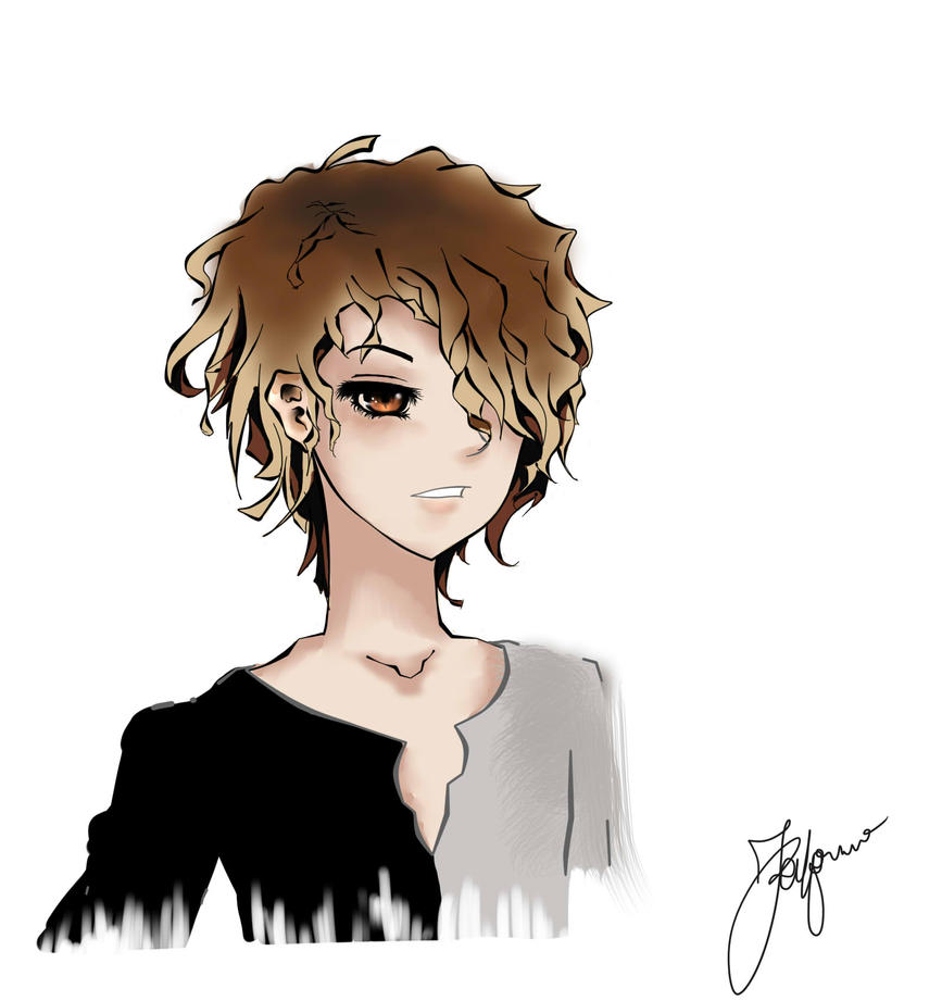 Anime wavy hair male