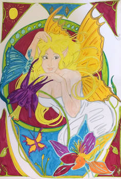 Hair as the sun ~Illuminati Art Nouveau