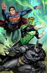 Superman, GL, Batman