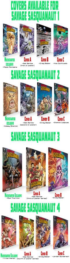 Savage Sasquanaut Covers 1-4  line up
