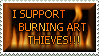 Burning Art Thieves Stamp by Viper-mod