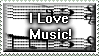 I Love Music Stamp by Viper-mod