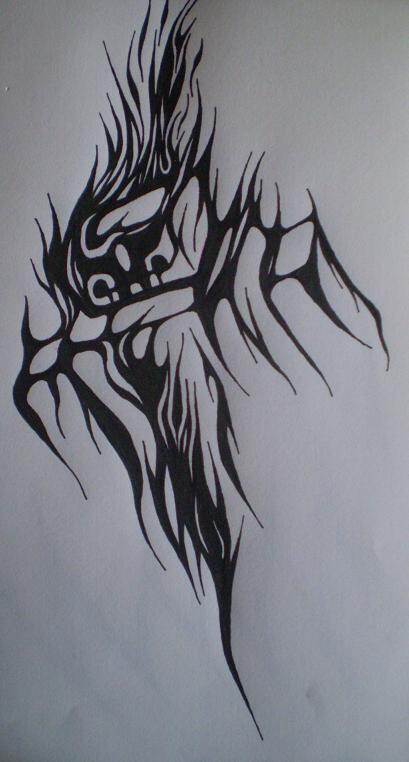 blade tribal tattoo by viper mod on deviantart. Black Bedroom Furniture Sets. Home Design Ideas