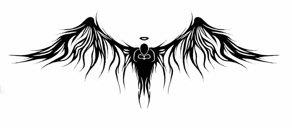 lonely love angel tattoo by viper mod on deviantart. Black Bedroom Furniture Sets. Home Design Ideas