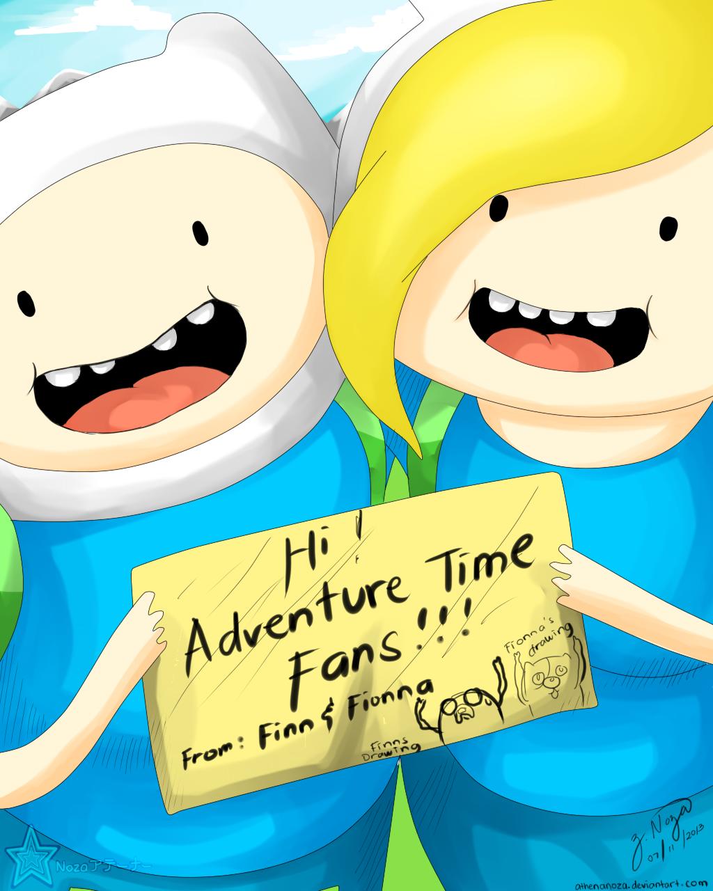 Adventure Time Finn And Fionna adventure time finn and fionnatentennz on deviantart